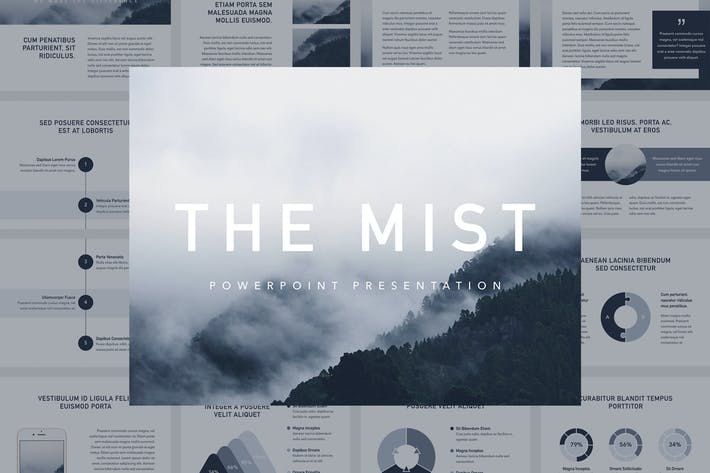 Thumbnail for The Mist PowerPoint Template