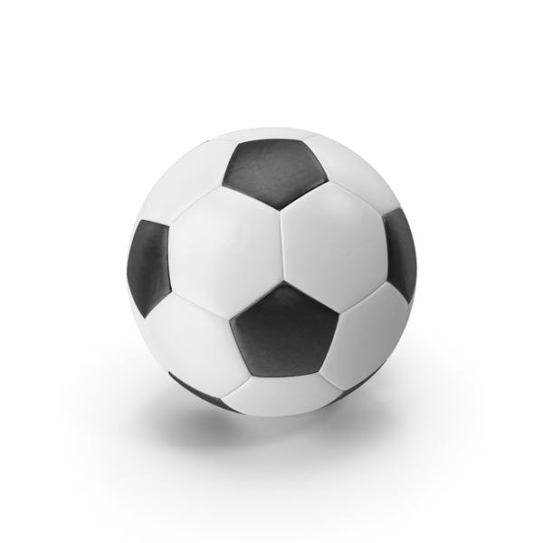 Realistic Leather Soccer Ball