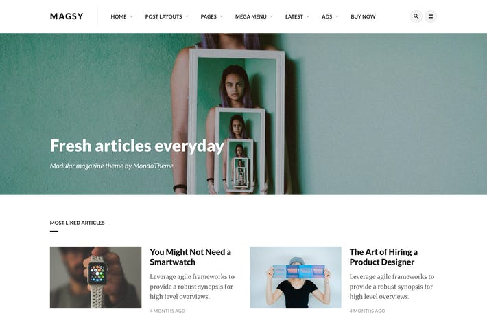 Thumbnail for Magsy - Modular Magazine & Blog Theme