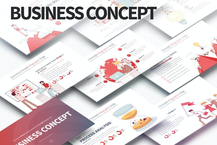 Thumbnail for Business Concept - PowerPoint Infographics Slides