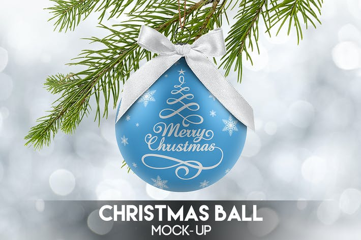 Thumbnail for Christmas Ball Mock-Up