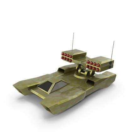 Low-Poly Gaming Rakete Hover Panzer