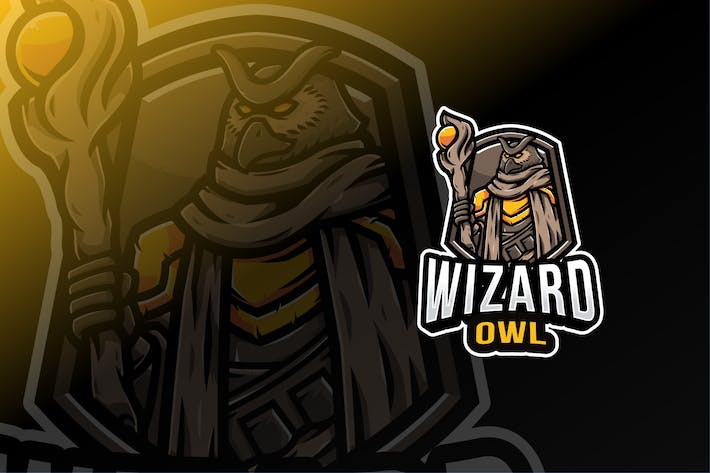 Thumbnail for Wizard Owl Logo Template