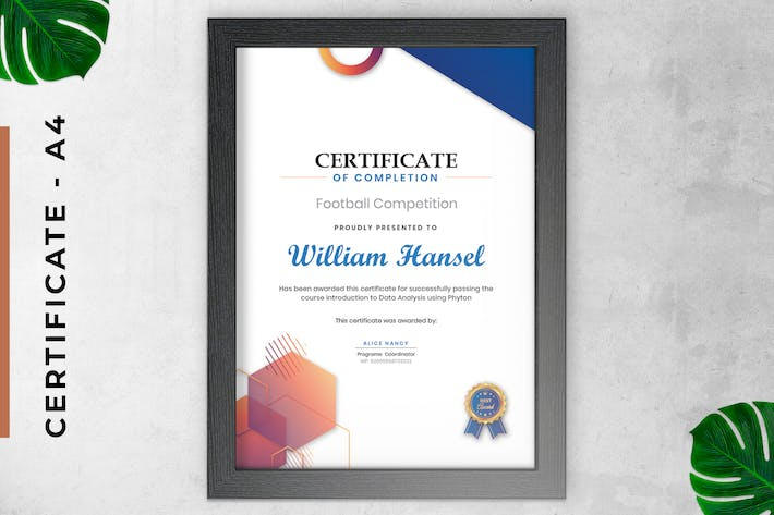 Certificate / Diploma Modern Corporate Style