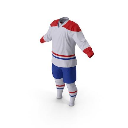 Eishockey Kleidung Weiß
