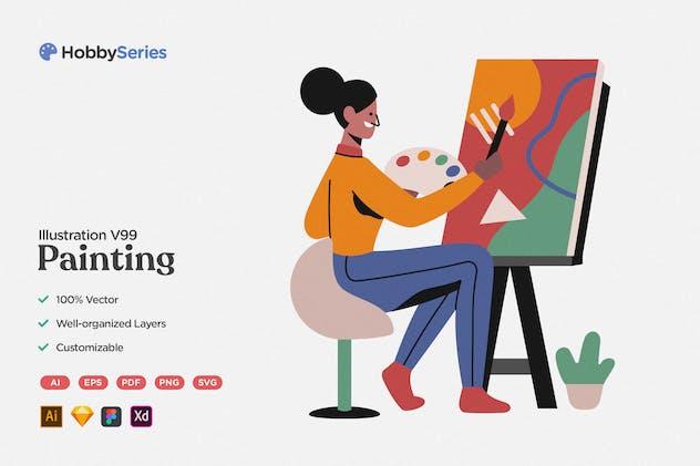 Hobby Illustration: Draw Art Painting
