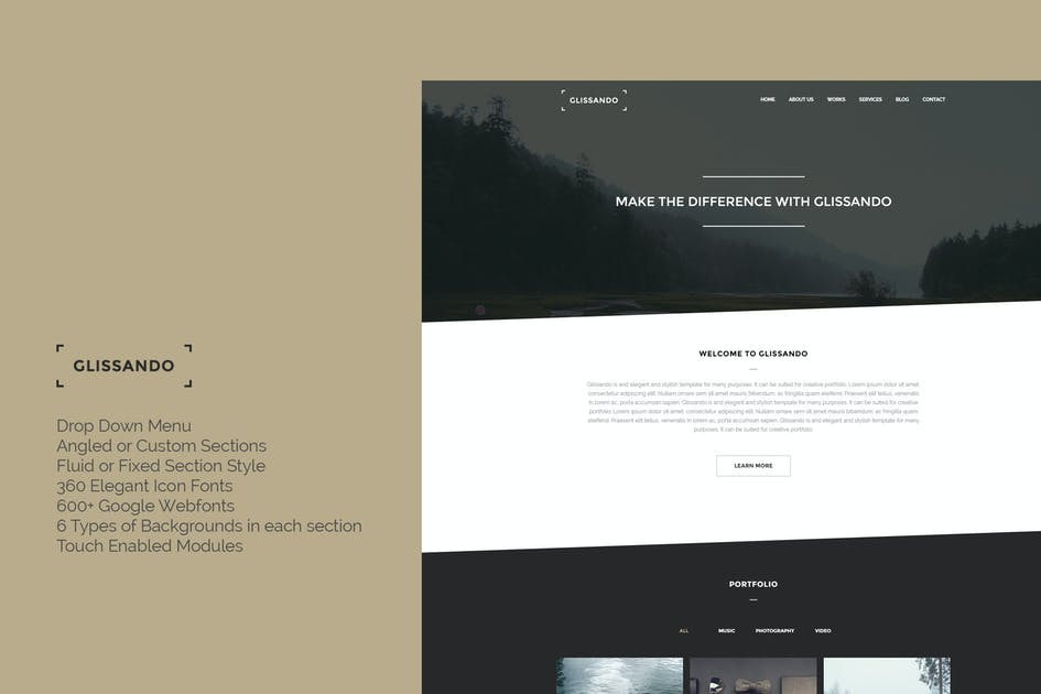 Download Glissando - Elegant & Minimal Joomla Template by TDGR