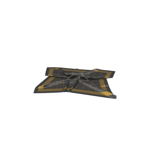 Schal aus Seide in Schwarz und Gold