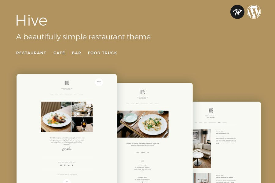 Hive - Restaurant & Cafe WordPress Theme