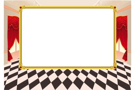 Tarjeta divertida con espacio vacío para texto