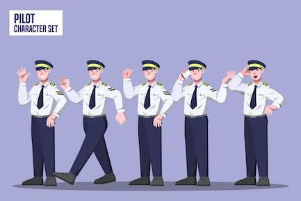 Pilot - Character Set Illustration