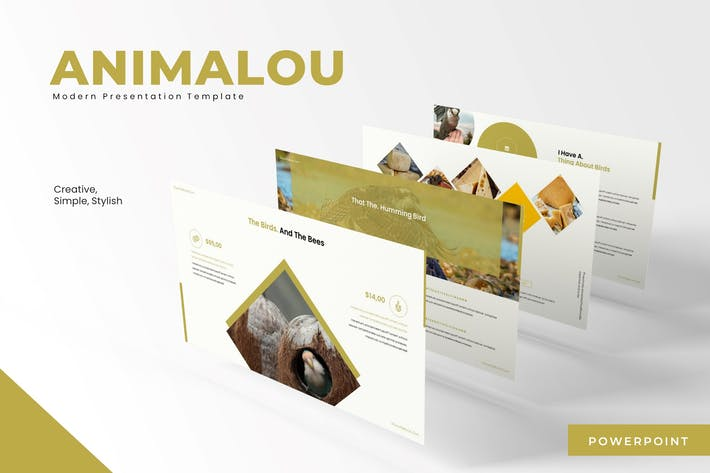 Animalou - Шаблон Powerpoint