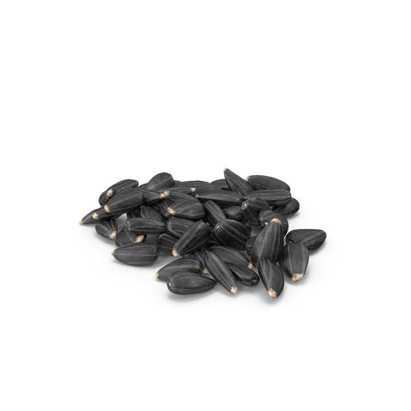 Black Sunflower Seeds Pile