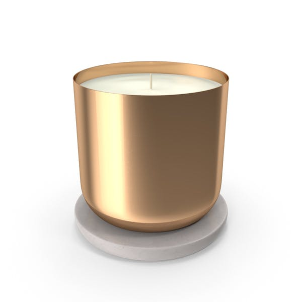 Scented Candle Small Metal Gold