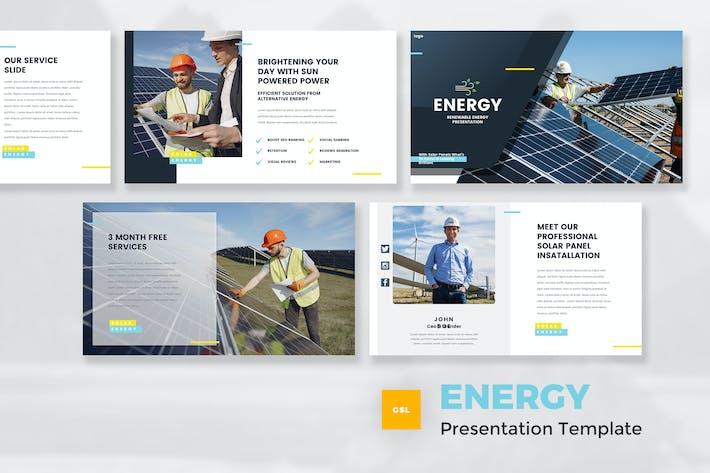 Thumbnail for Шаблон слайдов Google из возобновляемых источников энергии
