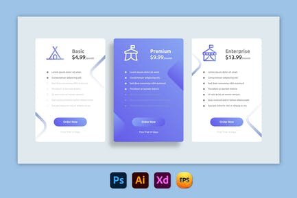 Blues – Pricing Table Design