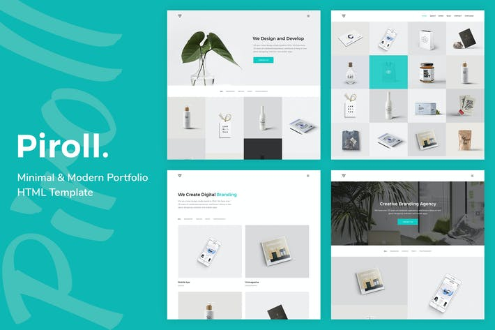 Thumbnail for Piroll — Minimal and Modern Portfolio HTML Templat
