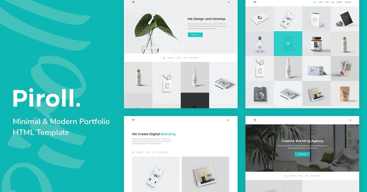 Download Piroll — Minimal and Modern Portfolio HTML Templat by robirurk