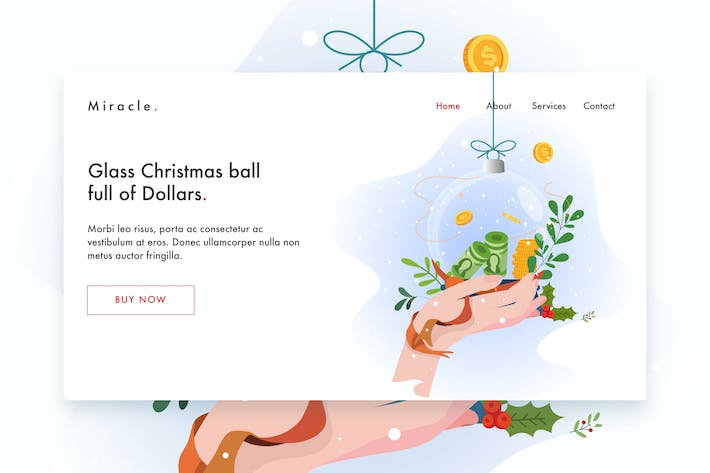 Thumbnail for Glass Christmas ball full of Dollars Landing Page