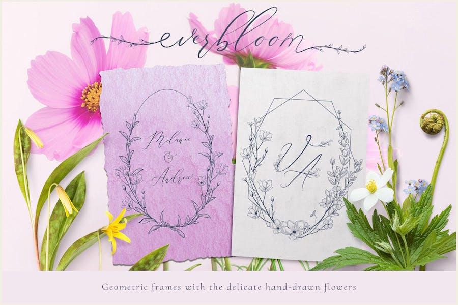 Geometric vector floral frames