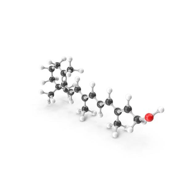 Thumbnail for Retinol (Vitamin A1) Molecular Model