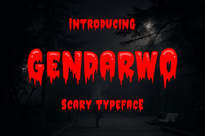 Thumbnail for Gendarwo - Scary Typeface