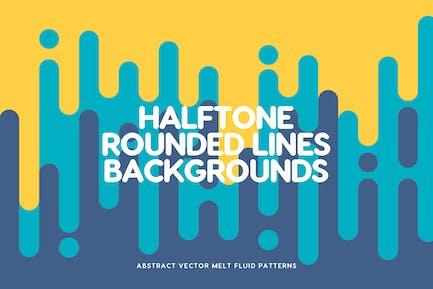 Halftone vertikale Schmelzlinien Hintergründe