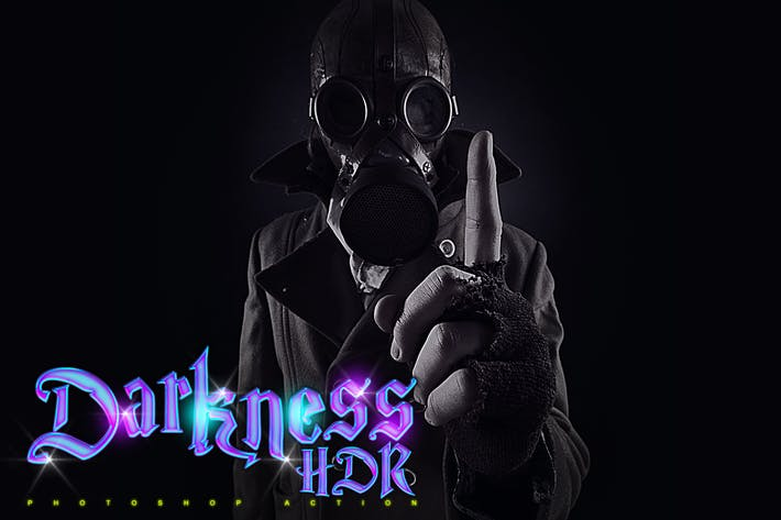 Thumbnail for Darkness HDR Photoshop Action