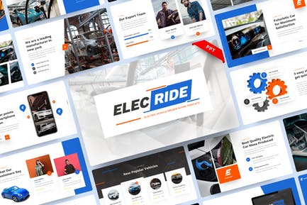 Elecride - Electric Vehicle PowerPoint Template