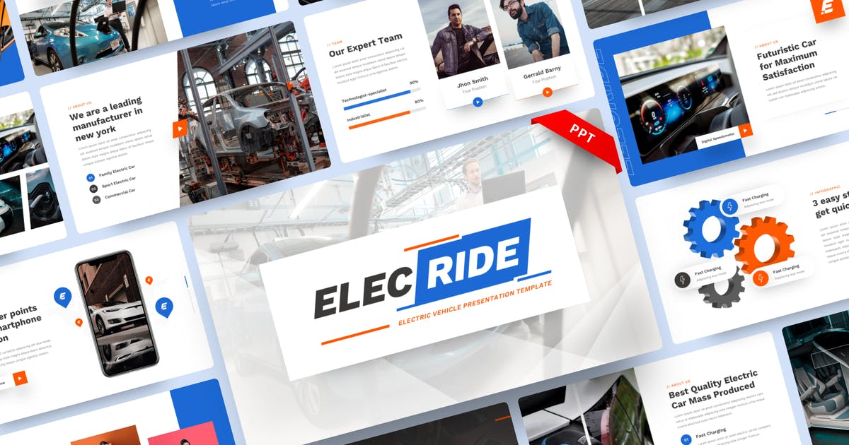 Download Elecride - Electric Vehicle PowerPoint Template by yossy1