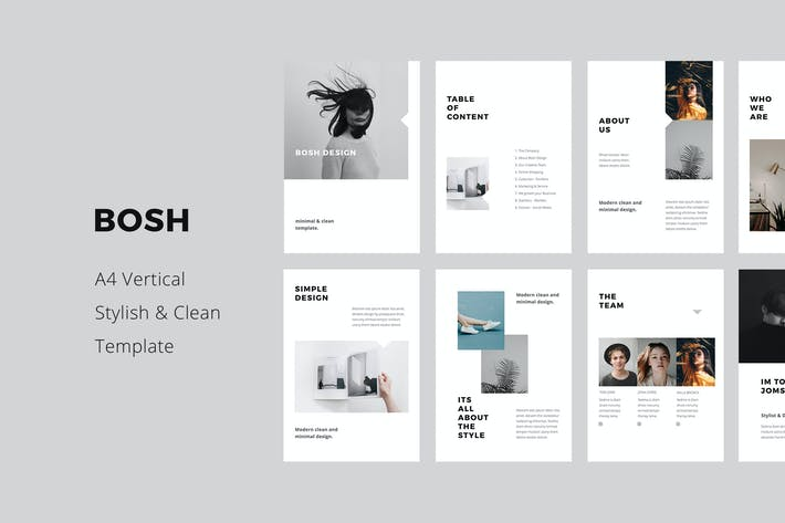 Thumbnail for BOSH - A4 Vertical Keynote Template
