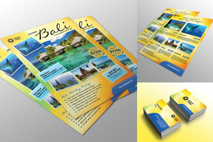 Cover Image For Travel Flyer + Business Card