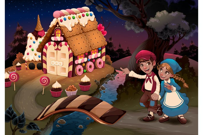 Cover Image For Hansel and Gretel Near the Candy House