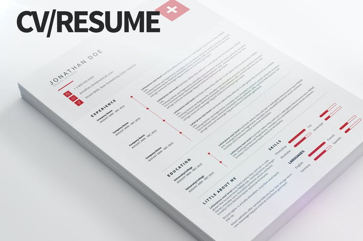 Cover Image For CV/Resume - Clean and modern