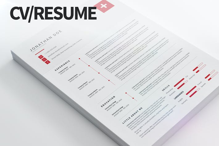 Cv Resume Modern And Clean By Pulsecolor On Envato Elements