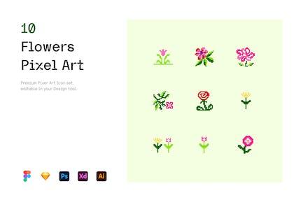Flowers - Pixel Art