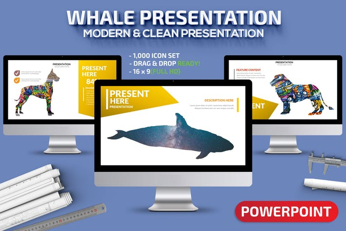 Thumbnail for Whale Powerpoint Presentation Template