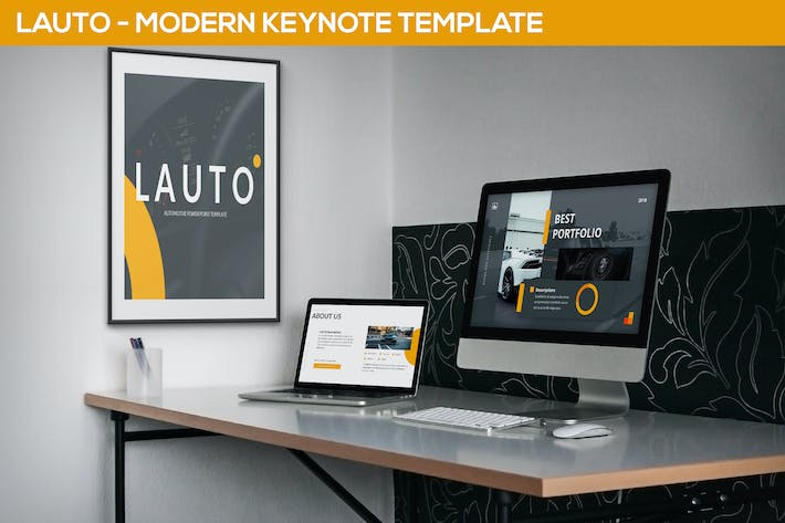 Thumbnail for Lauto - Modern Keynote Template