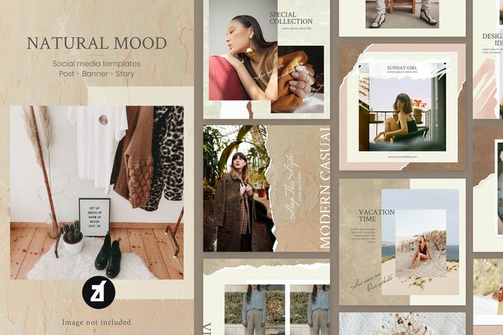 Thumbnail for Natural mood social media graphic templates