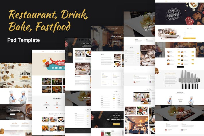 Thumbnail for Dorado - Restaurant,Bread,Coffe,Bake PSD Template