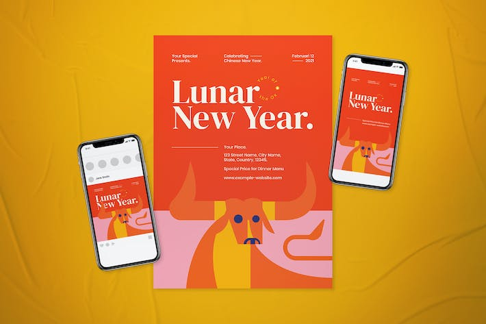 Thumbnail for Lunar New Year Flyer Set