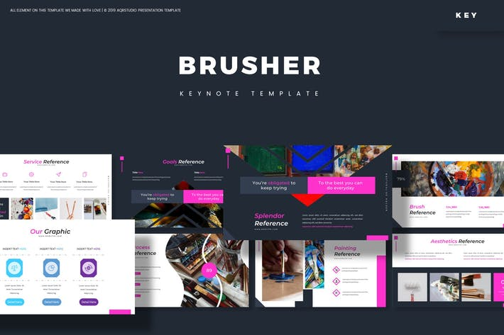 Thumbnail for Brusher - Keynote Template
