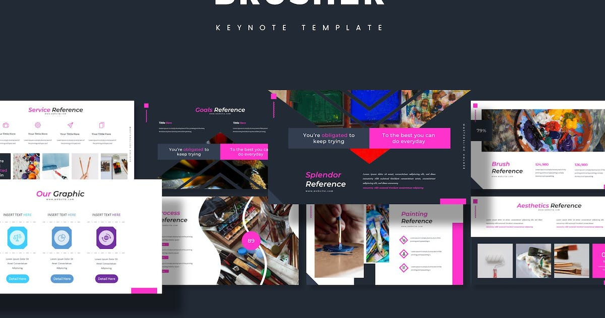 Download Brusher - Keynote Template by aqrstudio