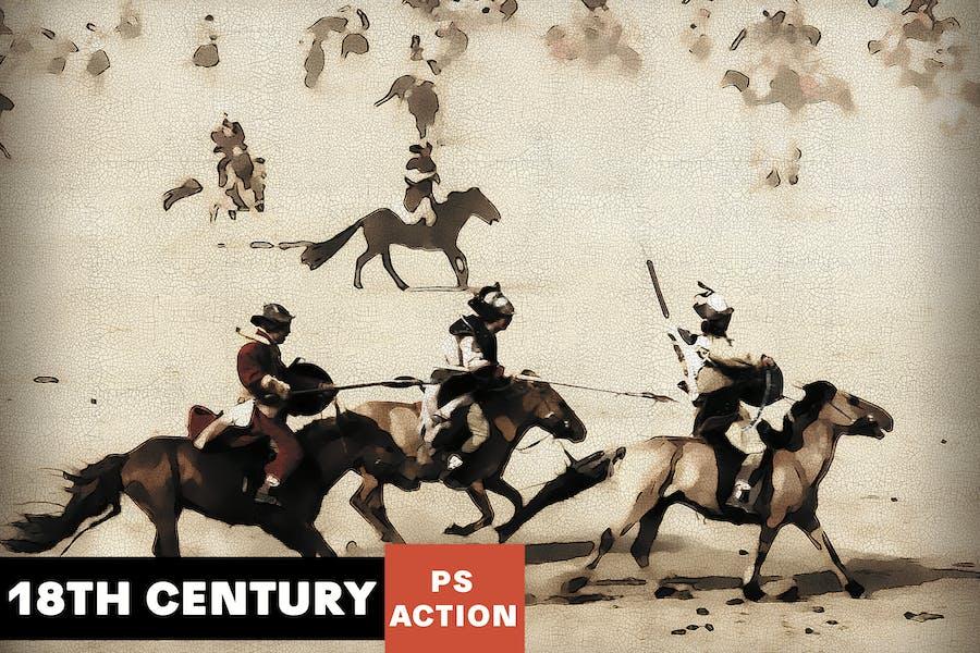 18-го века Живопись Photoshop Действие