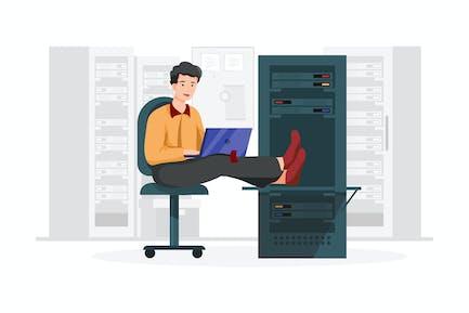 Database administrator vector illustration concept