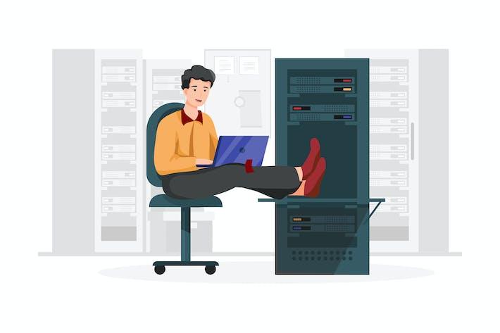 Thumbnail for Database administrator vector illustration concept
