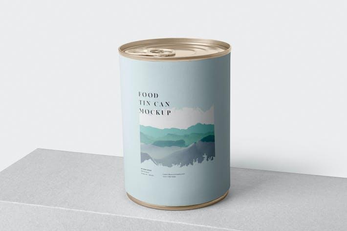 Thumbnail for Food Tin Can Mockup
