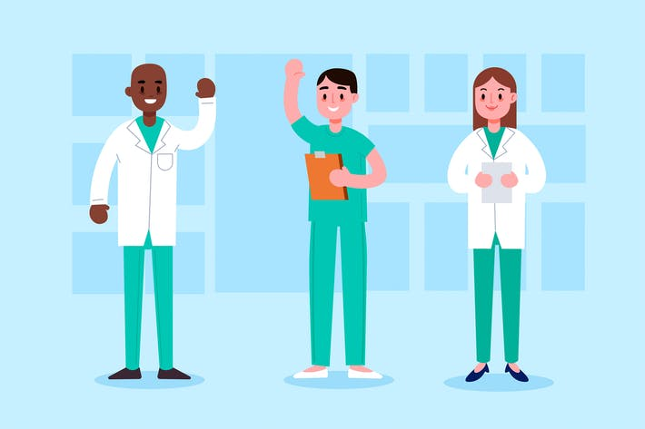 Thumbnail for Cartoon 3 Healthcare Providers