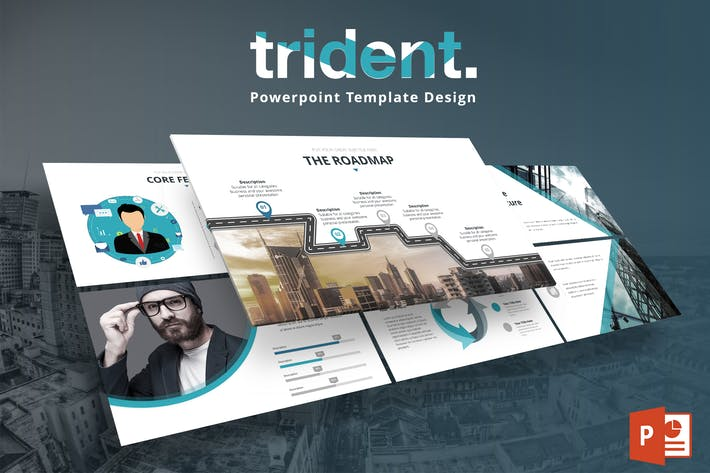 Thumbnail for Trident - Powerpoint Template Design