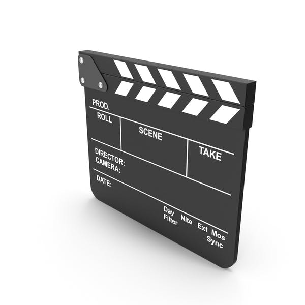 Black Movie Clapboard